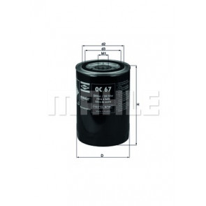 Filtro De Aceite Mecafilter ELH4307
