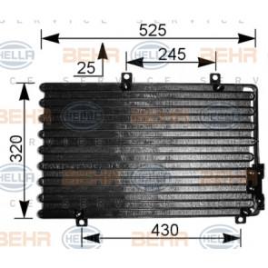 8FC 351 036-741 Hella Condensador De Aire Acondicionado