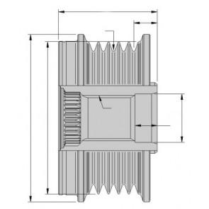 9XU 358 038-391 HELLA Alternator Freewheel Clutch