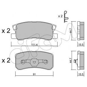 MDB2080 Rear Brake Pads Fits Akebono System With Acoustic Wear Warning By Mintex