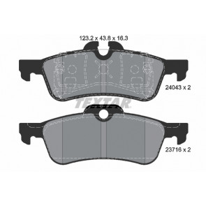 MINI Convertible Pagid Rear Brake Pads Set Teves Braking System