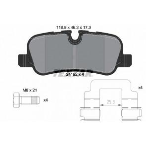 MDB2713 Rear Brake Pads Fits Lucas System Prepared For Wear Indicator By Mintex