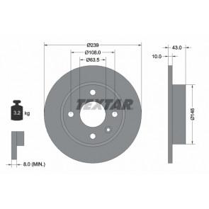 SINGLE OE QUALITY NBD713 National BRAKE DISC