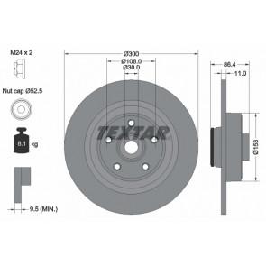 TRW DF4413BS Brake Disc