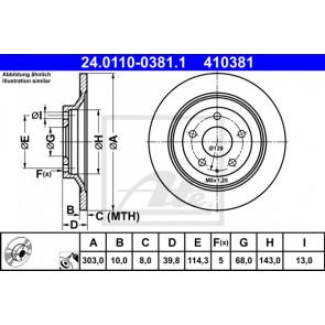 MINTEX MDC2388 BRAKE DISC Rear