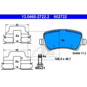 Disc Brake Pagid T1658 Brake Pad Set