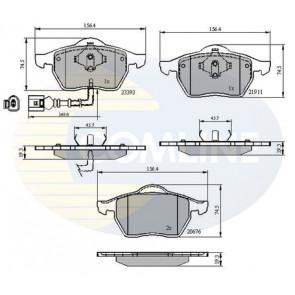 PA1305 Brake Pad Set disc brake Front Axle