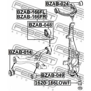 Arm Bushing Front Lower Arm For Mercedes Benz Febest # BZAB-049 1 Year Warranty