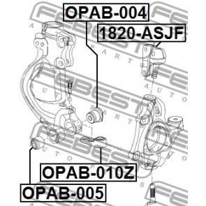 control arm mounting FEBEST OPAB-005 Bush