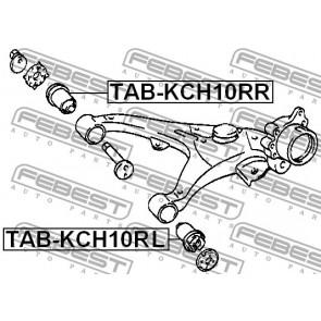 ARM BUSHING FOR REAR ARM TAB-KCH10RL Febest