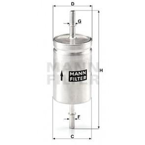 Fuel Filter MANN WK 512
