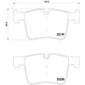 New BMW X3 Hella-PAGID Front Disc Brake Pad Set 355015781 34106859182