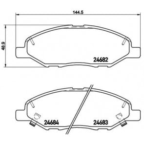 REAL IMAGE OF PART MINTEX FRONT AXLE BRAKE PADS FOR FITS NISSAN MDB3009