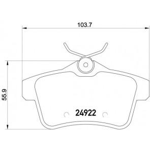 MINTEX REAR BRAKE PADS FOR CITROEN DS PEUGEOT MDB3023 REAL IMAGE OF PART