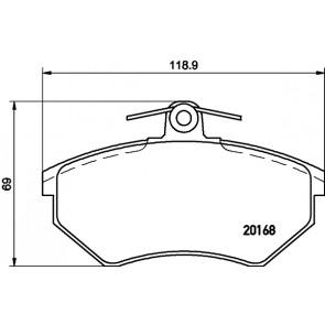 Set of 4 Brembo P85011 Front Disc Brake Pad