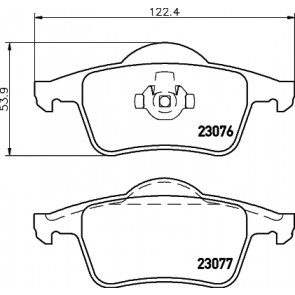 Mintex MDB1943 Rear Brake Pads Fits Teves System Excl Wear Warning Contact