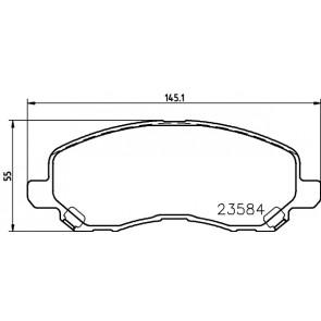 Mintex Front Brake Pad Set MDB2134