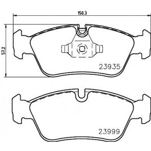 Brake Pads Set Front JCP1751 Juratek 34112288849 34112288851 34116767147 23935