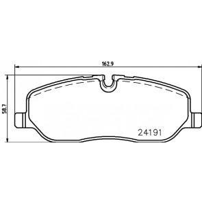 Bosch Front Brake Pad Set 0986494147 BP1058-5 YEAR WARRANTY