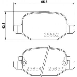 Brembo P23150 Rear Disc Brake Pad Set of 4