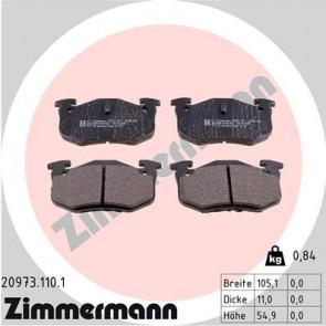 MDB2868 MINTEX Brake Pad Set disc brake rear