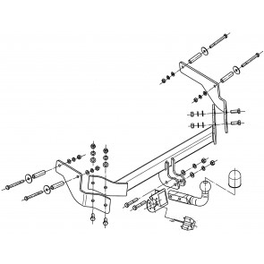Vetokoukku STEINHOF STF-072 Fiat Fiorino, Qubo, Citroen