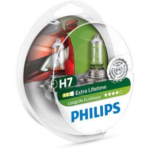 halog nspuldze philips longlife ecovision 12v h7 55w x2. Black Bedroom Furniture Sets. Home Design Ideas